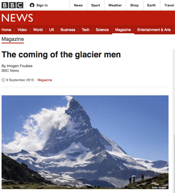 The coming of the glacier men